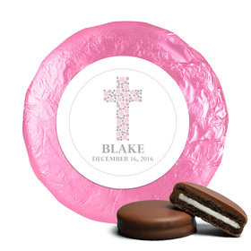 Stepping Stones Baptism Favors Belgian Chocolate Covered Oreo Assembled (24 Pack)