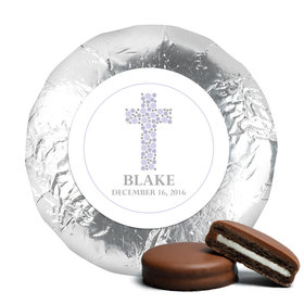 Stepping Stones Baptism Favors Milk Chocolate Covered Oreo Assembled (24 Pack)