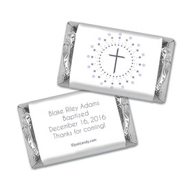 Radiant Cross Baptism Personalized Miniature Wrappers