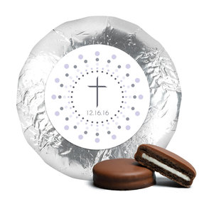 Radiant Cross Baptism Favors Milk Chocolate Covered Oreo Cookies Assembled