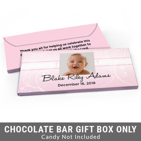 Deluxe Personalized Cross & Scroll Baptism Candy Bar Favor Box
