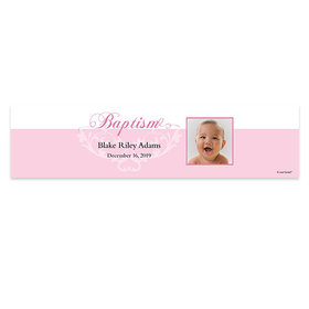 Personalized Baptism Photo 5 Ft. Banner