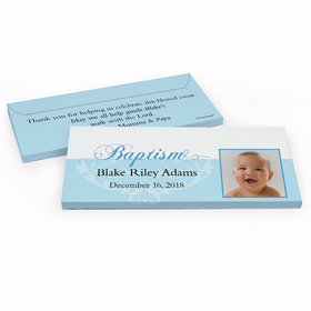 Deluxe Personalized Photo & Scroll Baptism Chocolate Bar in Gift Box