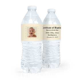 Personalized Baptism Certificate Photo Water Bottle Labels (5 Labels)