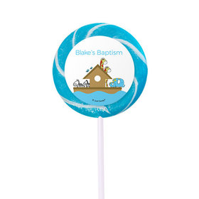 Personalized Baptism Small Swirly Pop Noah's Ark (24 Pack)