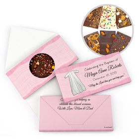 Personalized Wrapped in Faith Baptism Gourmet Infused Belgian Chocolate Bars (3.5oz)