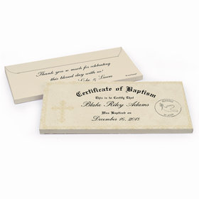 Deluxe Personalized Certificate Baptism Chocolate Bar in Gift Box