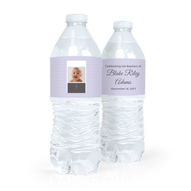 Personalized Boy Baptism Photo Water Bottle Labels (5 Labels)