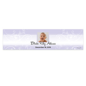Personalized Boy Baptism Photo 5 Ft. Banner