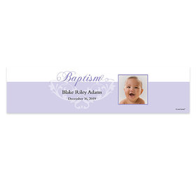 Personalized Baptism Photo & Scroll Banner