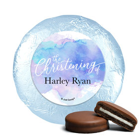 Personalized Watercolor Christening Chocolate Covered Oreos