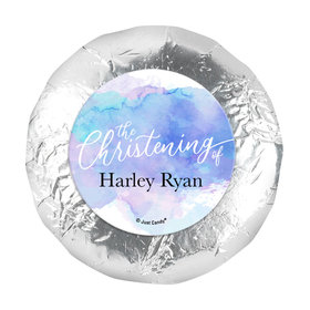 "Personalized Watercolor Christening 1.25"" Sticker (48 Stickers)"