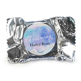 Personalized Watercolor Christening York Peppermint Patties