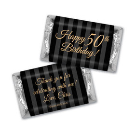 Formal 50th Birthday Personalized Miniature Wrappers
