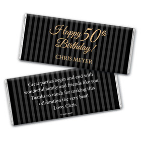 Formal 50th Birthday Personalized Candy Bar - Wrapper Only