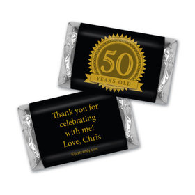50th Birthday Seal of Experience Personalized Miniature Wrappers