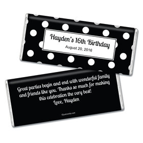 Birthday Personalized Chocolate Bar Polka Dot