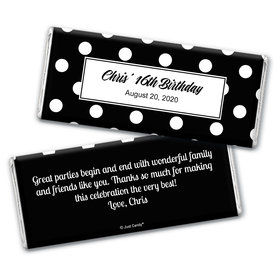 Dot Filled Day Personalized Candy Bar - Wrapper Only