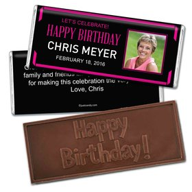 Birthday Personalized Embossed Chocolate Bar Celebrate Photo