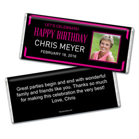 Birthday Personalized Chocolate Bar Celebrate Photo