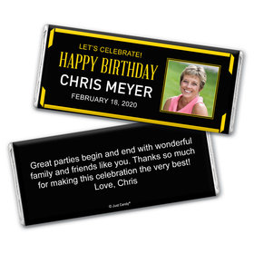 Let's Celebrate Personalized Candy Bar - Wrapper Only