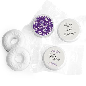 Damask Personalized Birthday LIFE SAVERS Mints Assembled