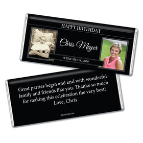 Now and Then Birthday Personalized Hershey's Bar Assembled