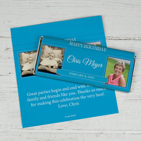 Now and Then Birthday Personalized Candy Bar - Wrapper Only