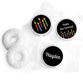 Birthday Personalized Life Savers Mints Lit Candles