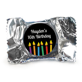 Birthday Personalized York Peppermint Patties Lit Candles