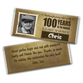 Century 100th Birthday Personalized Candy Bar - Wrapper Only