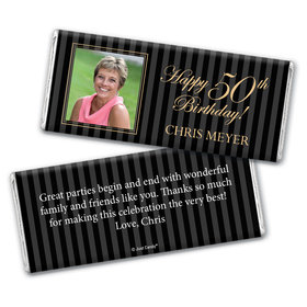 Formal Photo Personalized Candy Bar - Wrapper Only