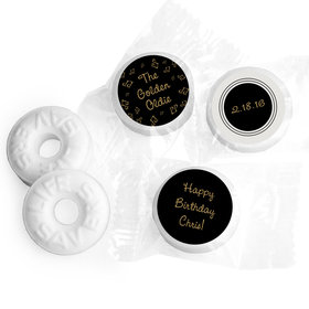 Birthday Stickers Golden Oldie Personalized Life Savers (300 Pack)