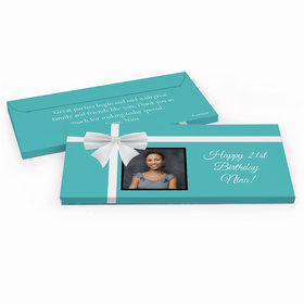 Deluxe Personalized Photo & Bow Birthday Hershey's Chocolate Bar in Gift Box