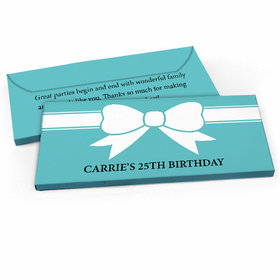 Deluxe Personalized Bow Birthday Candy Bar Favor Box