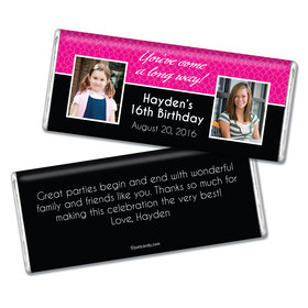Birthday Personalized Chocolate Bar Then & Now Photo