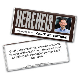 Only His Personalized Hershey's Bar Assembled
