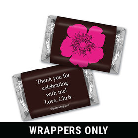 Birthday Personalized Hershey's MINIATURES Wrappers Flower Trio