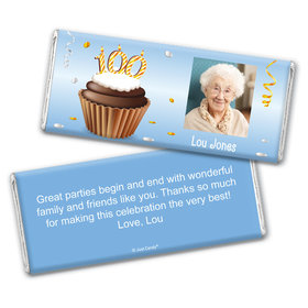 How Many? Personalized 100th Candy Bar - Wrapper Only