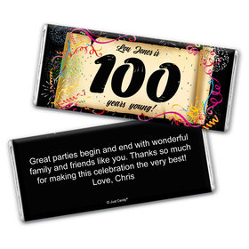 Commemorate 100th Birthday Personalized Candy Bar - Wrapper Only