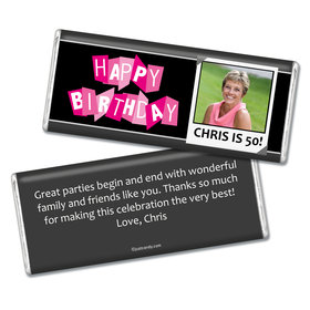 Birthday Personalized Chocolate Bar Polaroid Photo