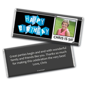 Polaroid Birthday Personalized Candy Bar - Wrapper Only