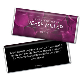 Birthday Personalized Chocolate Bar Flower Petals
