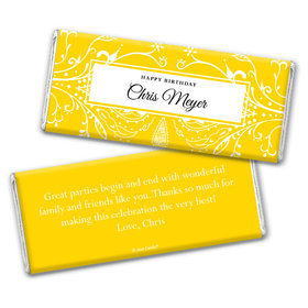 Elegant Birthday Personalized Candy Bar - Wrapper Only