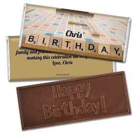 Birthday Personalized Embossed Chocolate Bar Scrabble Board Game
