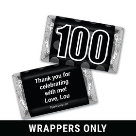 100th Birthday Personalized HERSHEY'S MINIATURES Wrappers Bold Years & Dots