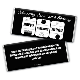 Slot Celebration Personalized Candy Bar - Wrapper Only