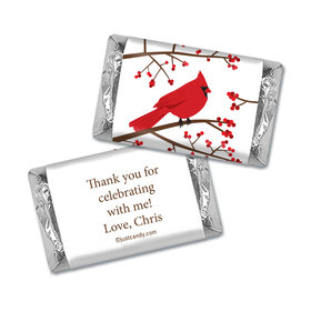 Birthday Personalized HERSHEY'S MINIATURES Wrappers Red Cardinal