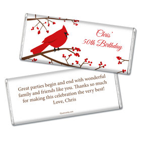 Birthday Personalized Chocolate Bar Red Cardinal