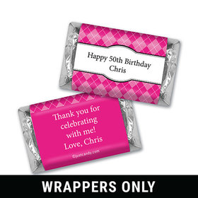Birthday Personalized HERSHEY'S MINIATURES Argyle Pattern